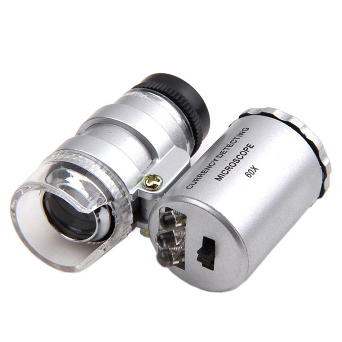 Kingmas Mini 60x Microscope Magnifying With Led Uv Light