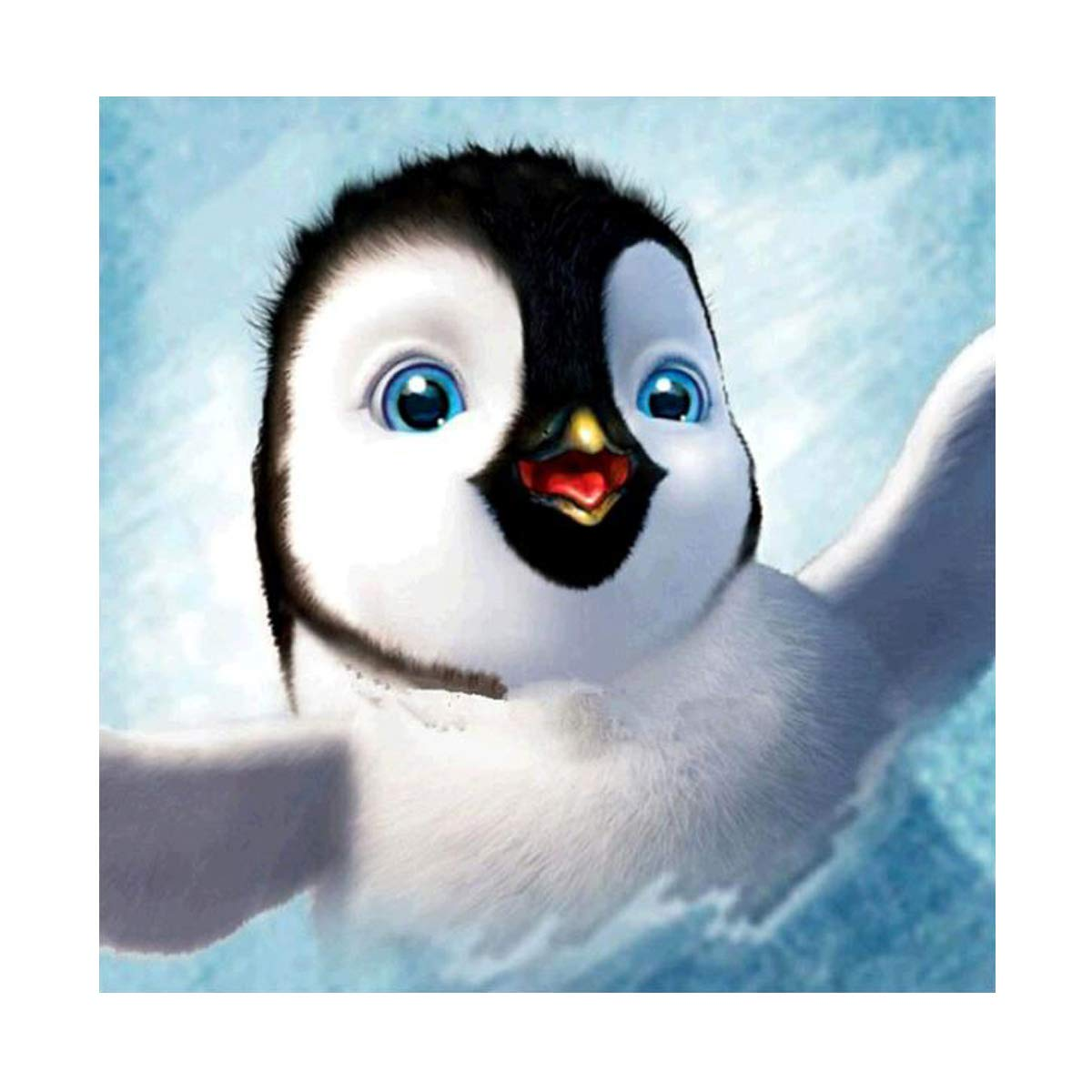 DIY 5D Diamond Painting by Number Kits Full Round Drill Rhinestone Embroidery Cross Stitch Picture Art Craft Home Wall Decor Penguin 12x12In MXJSUA