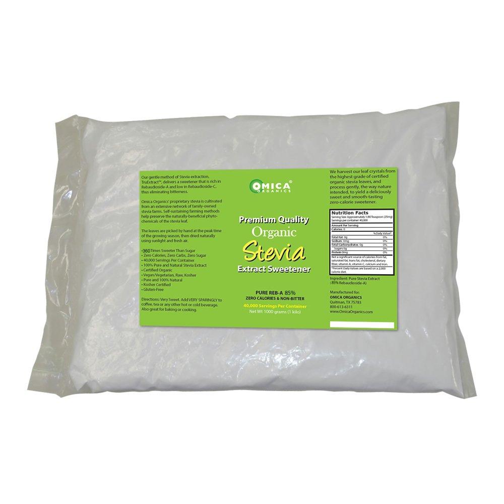 Organic Stevia Extract Powder 85% Reb-A (1 Kg) BULK