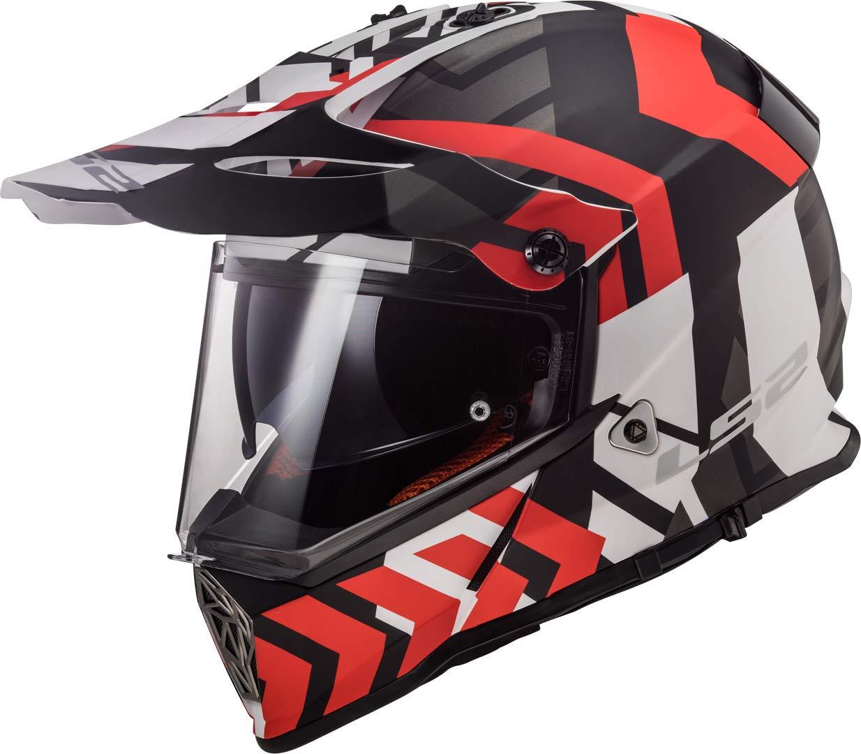 404362532 CASCO INTEGRALE LS2 MX436 PIONEER XTREME MATT BLACK RED TAGLIA S 6934432841624