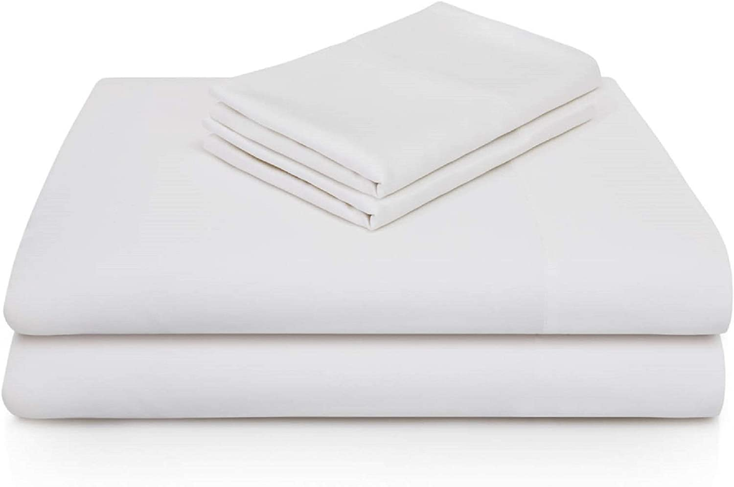 Woven Rayon from Bamboo 4 Piece Bed Sheet Set Breathable and Hypoallergenic