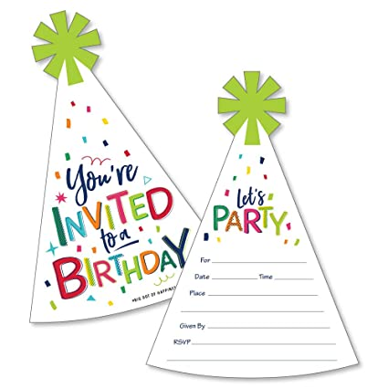 Amazon.com: Cheerful Happy Birthday – Invitaciones de ...