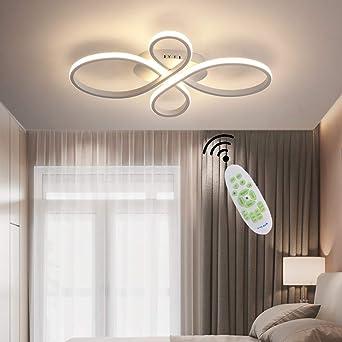Lámpara de techo para salón de color blanco LED Moderna Regulable ...