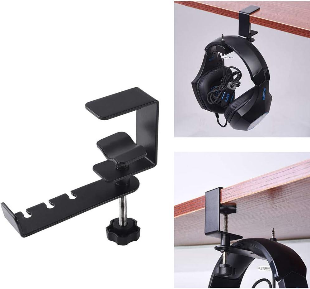 Pondecy Headphone Stand Hanger Mount 360/° Rotatable Metal Earphone Hook Adjustable Clamp