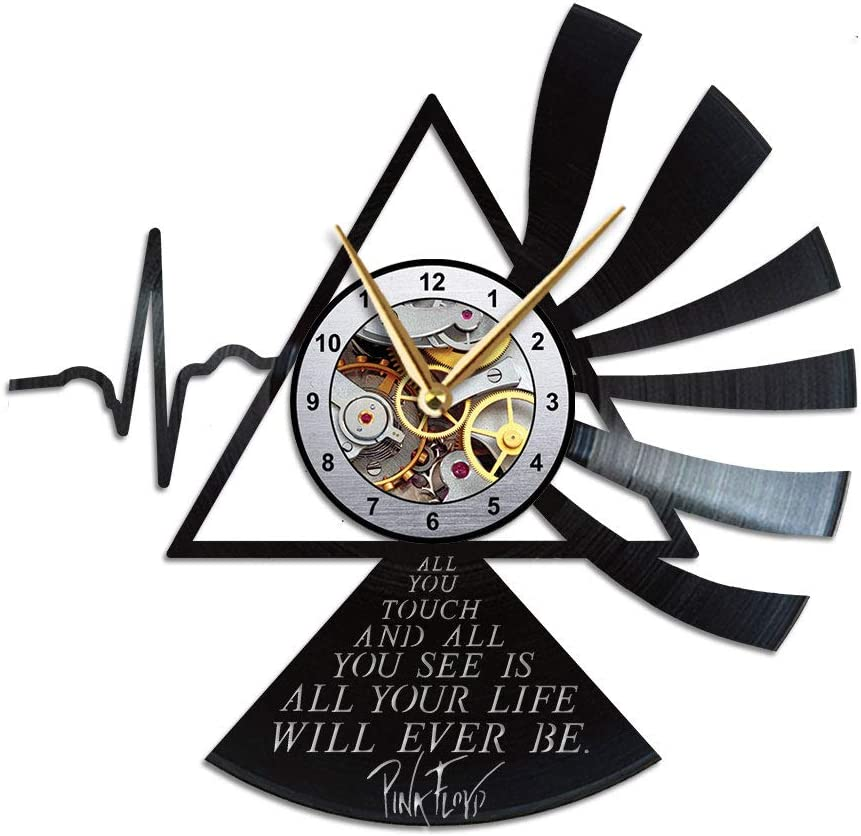 AroundTheTime Pink Floyd Vinyl Wall Clock, Gift Decor
