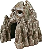 Blue Ribbon Exotic Environments Skull Mountain Aquarium Ornament, Small, 5-1/2-Inch by 6-Inch by 6-Inch