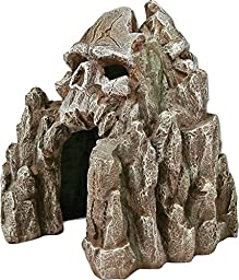Exotic Environments Skull Mountain Aquarium Ornament, Small, 5-1/2-Inch by 6-Inch by 6-Inch