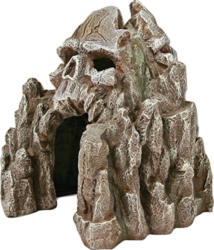 Blue Ribbon Exotic Environments Skull Mountain Aquarium Ornament, Small, 5-1/2-Inch by 6-Inch by 6-Inch by Blue Ribbon