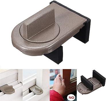 cerradura gris puerta corredera de seguridad de bloqueo y tapa de la ventana deslizante (2 pcs): Amazon.es: Bricolaje y herramientas