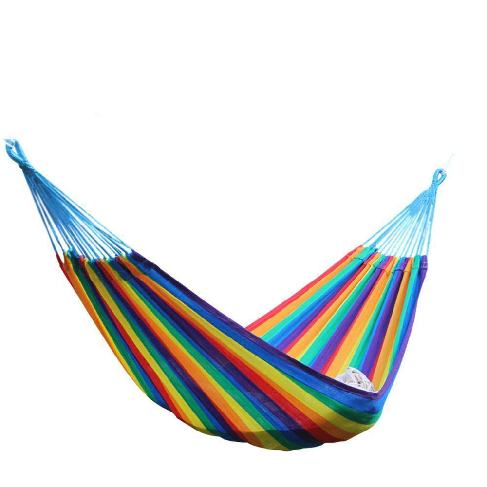Y-YT Reise Camping Hängematte Super Soft Rainbow Nylon Hängematte Strap (45 + 200 + 45)  120cm