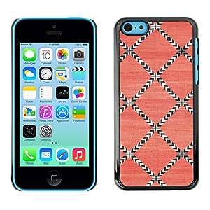 For Apple iPhone 5C Case , Pattern Wallpaper Pink Art - Diseño Patrón Teléfono Caso Cubierta Case Bumper Duro Protección Case Cover Funda