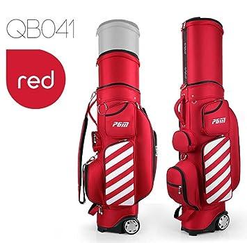 PGM - Bolsa de transporte para palos de golf, retráctil, unisex, con ruedas, rojo: Amazon.es: Deportes y aire libre