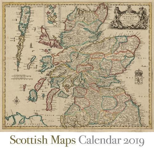 Scottish Maps Calendar 2019 by Birlinn