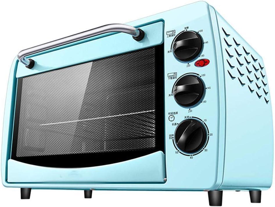 ZXCVB Hogar 20l Horno eléctrico.Hogar Multi-Función Asador, pequeña Mini hornada de la Torta Caja, Control de Temperatura Independiente (Color, Azul)
