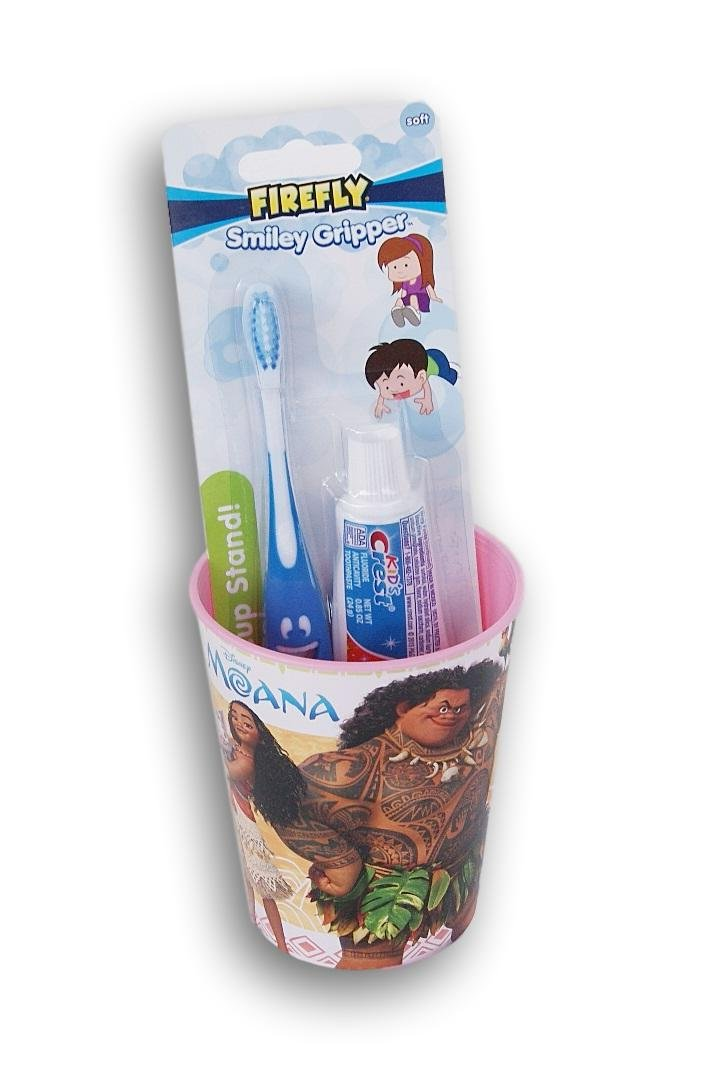 Moana Tooth Brushing Kit Toothbrush Toothpaste and Rinsing Cup
