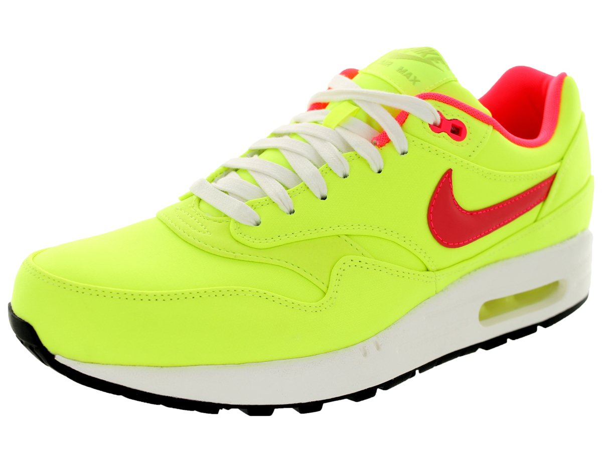 Nike Air Max 1 Premium QS para Hombre Zapatillas de running 665873 700 Zapatillas zapatos 39 EU Volt/Hyper Punch/Ivory