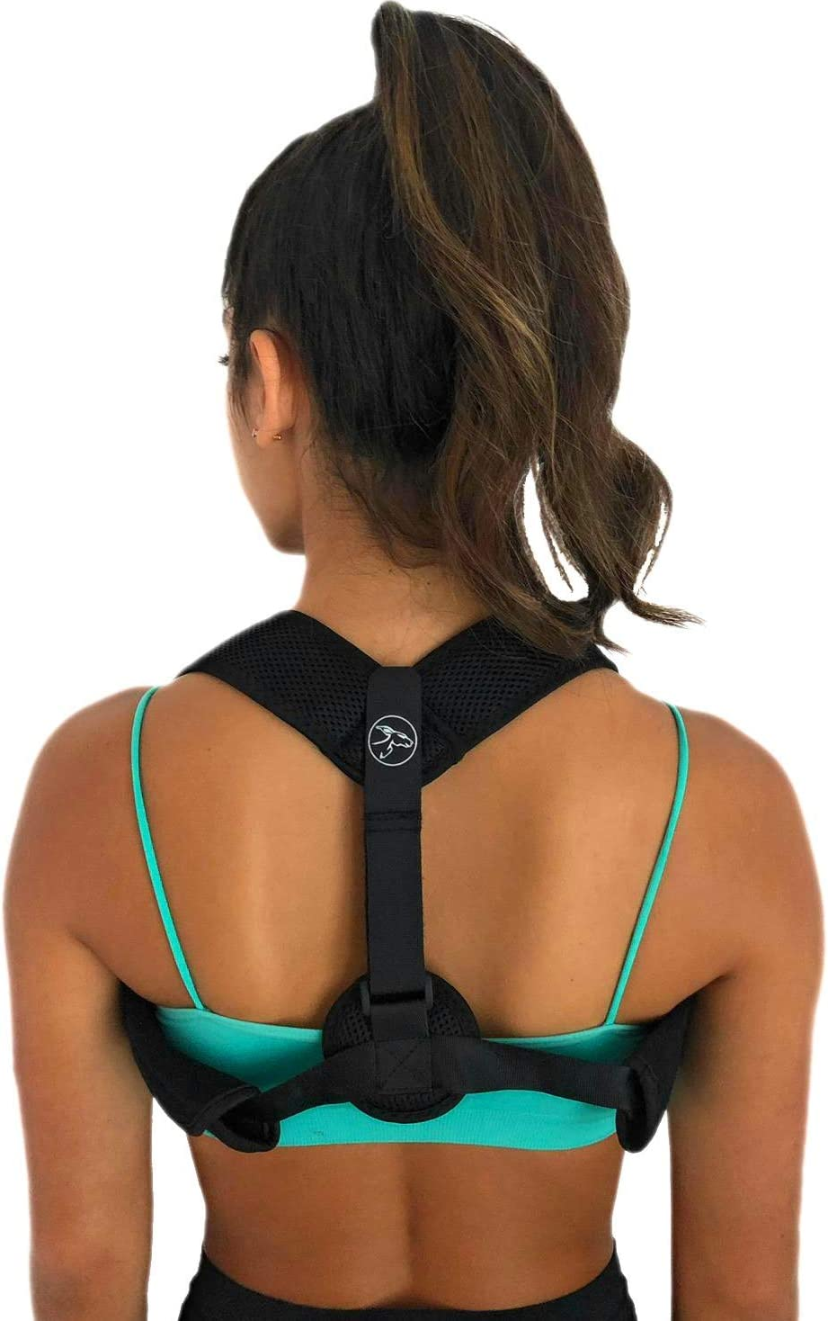 Posture Corrector for Women & Men - Neck & Back Pain Reliever with Future Benefits for Permanent Posture Correction - Adjustable Back Brace Straightener, Easily Hides Under Clothing