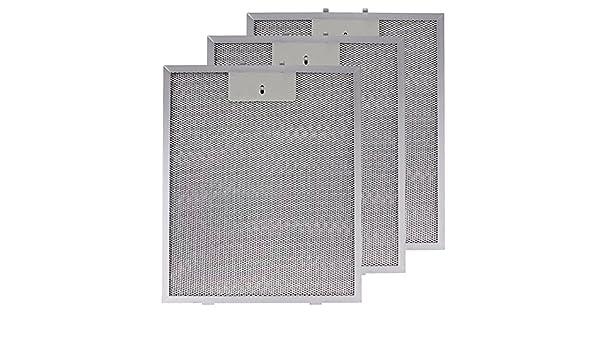Spares2go Malla Metálica Filtro para campana de cocina imán/ventilador Extractor ventilación (Pack de 3 filtros, Plata, 320 x 260 mm): Amazon.es: Hogar