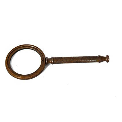 Home Decorative Items in Living Room, Bedroom   Jaipur House Handicraft Gifts Brass Magnifying Glass (Product Dimensions: (inches) 3 x .5 x 9)