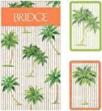 Entertaining with Caspari Bridge Playing Card Gift Set with Jumbo Typeface, Palms