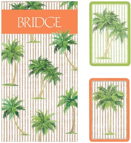 Entertaining with Caspari Bridge Playing Card Gift Set, Palms
