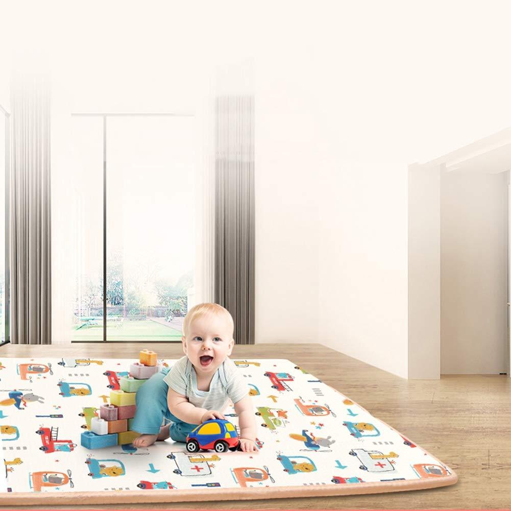 HLMIN 組み合わせマット赤ちゃんのためのプレイマット、リバーシブルベビー折りたたみマット、XPEマット、キッズ、幼児、ポータブル屋外または屋内使用 (Color : A, Size : 147×147×1CM) 147×147×1CM A B07TMPPKBN