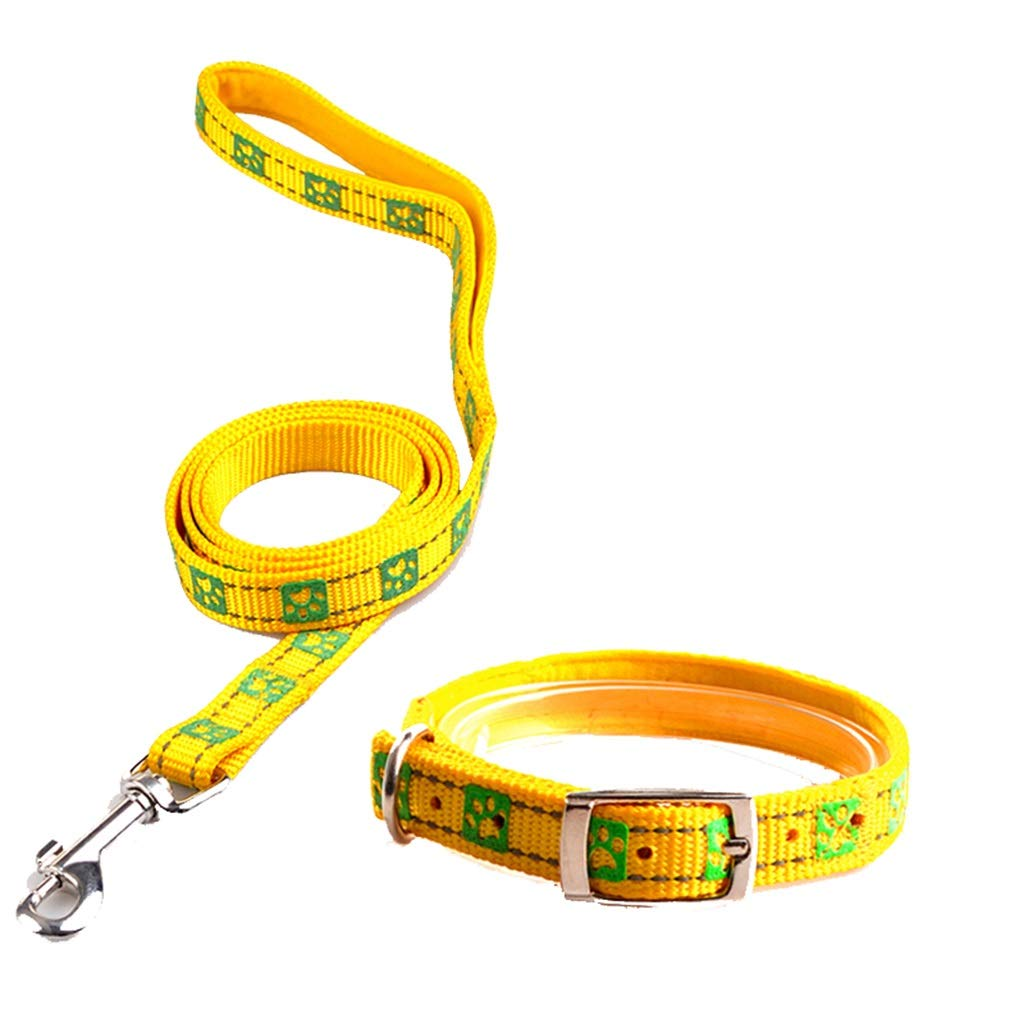 5  LDSADDSD Pet Leashes Small And Medium Dogs In The Collars Traction Rope Durable Reflective for Night Time Walking Pet Supplies (color   1 , Size   L)