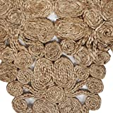 """LR Home Jute Abstract Table Runner, 1'-4"""" x"""