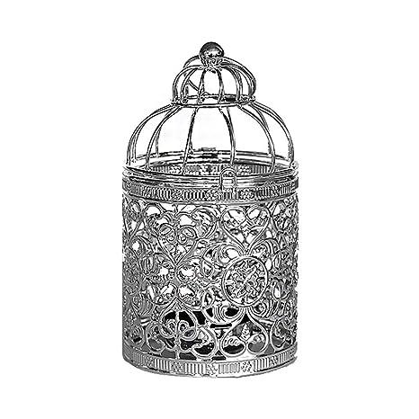 Cupcinu Elegante portavelas Ahuecado Jaula de Metal Diseñado para ...