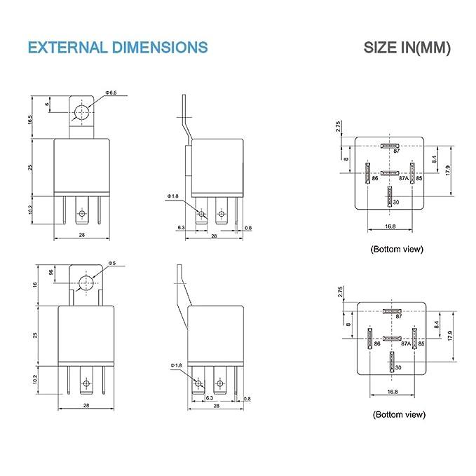 Mictuning Kfz-Relais 12V 5Pin 30 / 40A Wasserdicht ...