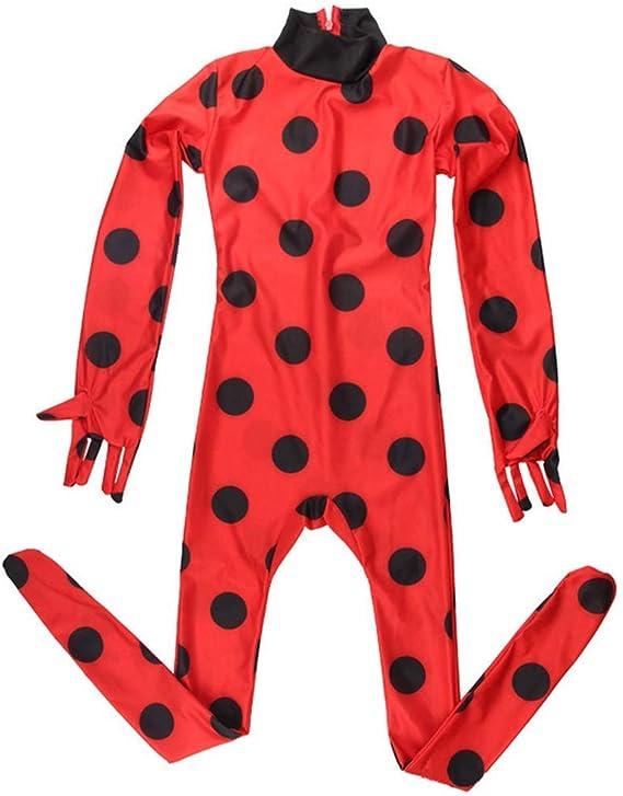 Wiokslms 4 Pieza Disfraz Ladybug De Mariquita Cosplay Fiesta De ...