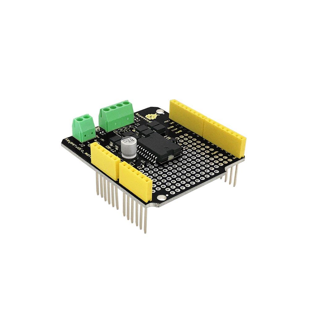 Keyestudio L298p Shield Dc Motor Driver Module 2a 2 Way H Bridge Driving Using Starter Kit For Arduino