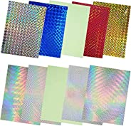 10/30pcs Fishing Lure Sticker Holographic Adhesive DIY Crafts Film Flash Lure Tape for Lure Making Tying Mater