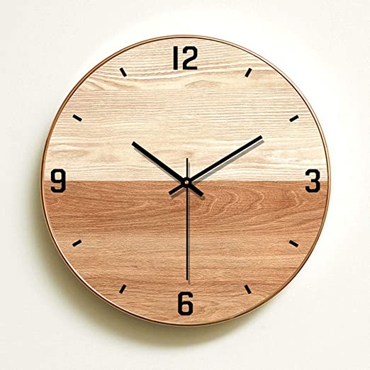 Amazon Com Zsllo Wall Clock Simple Modern Design Wooden Clocks For Bedroom Wood Wall Watch Home Decor Silent Clocks Color A Home Kitchen