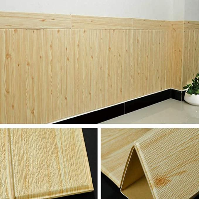 LZYMLG DIY pegatinas de grano de madera sala de estar 3d papel ...