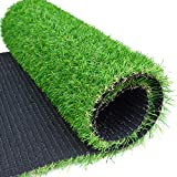 RoundLove Artificial Grass Turf Patch, 1' 4 Tone Synthetic Grass Mat...
