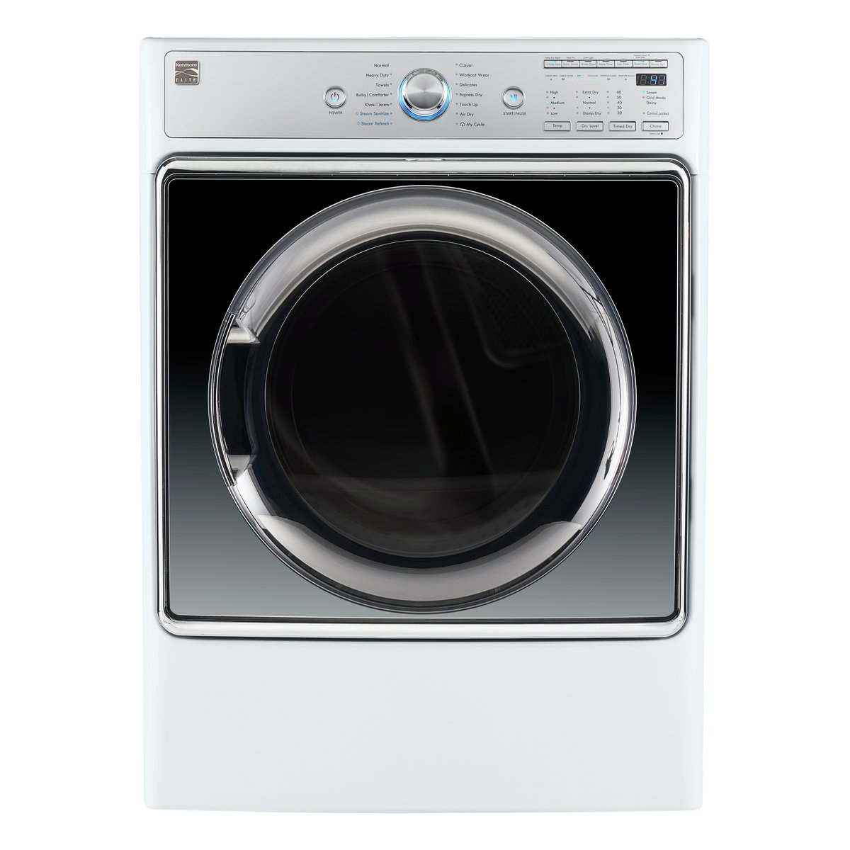Kenmore Smart 81982 9.0 cu. ft. Electric Dryer with Accela Steam Technology in White - Compatible with Amazon Alexa, includes delivery and hookup (Available in select cities only)