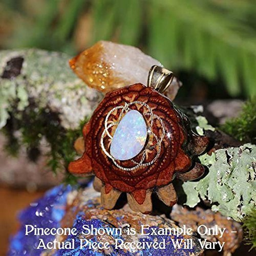 Australian Opal with Seed of Life Third Eye Pinecone Pendant by Third Eye Pinecones
