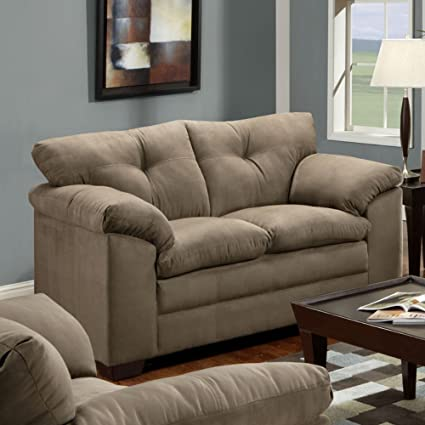 Superieur Simmons Upholstery Luna Loveseat, Mineral