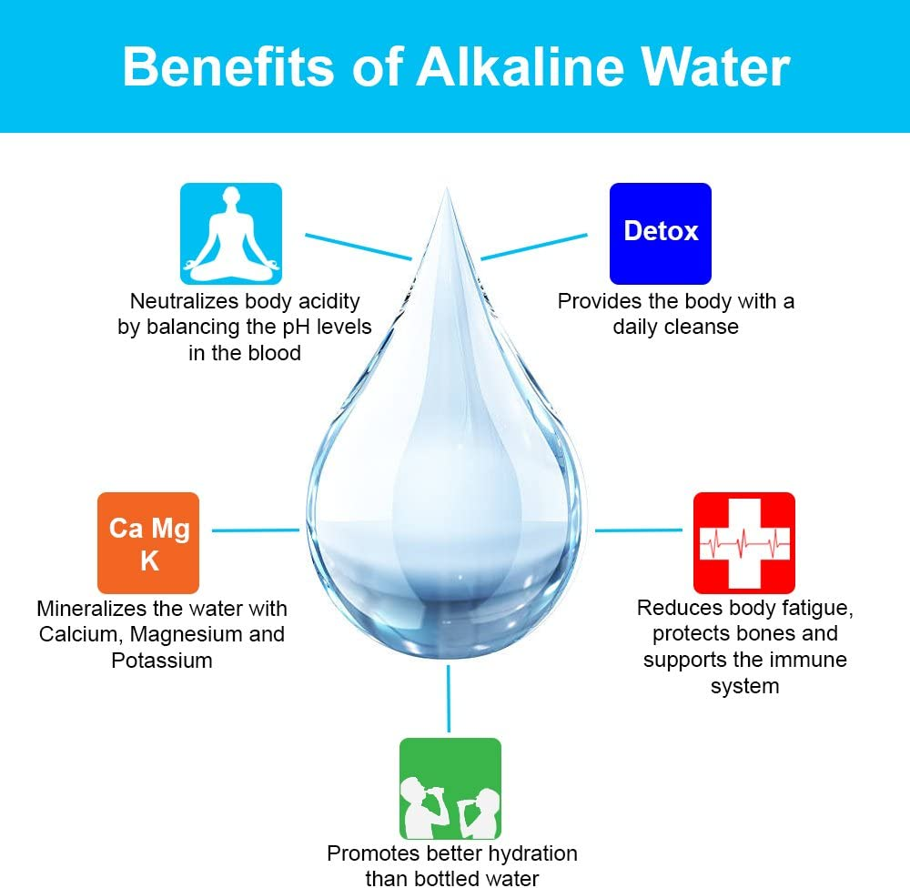 Water Replacement Cartridge Filter USA RF-1050 Premium 5-Stage Alkaline pH