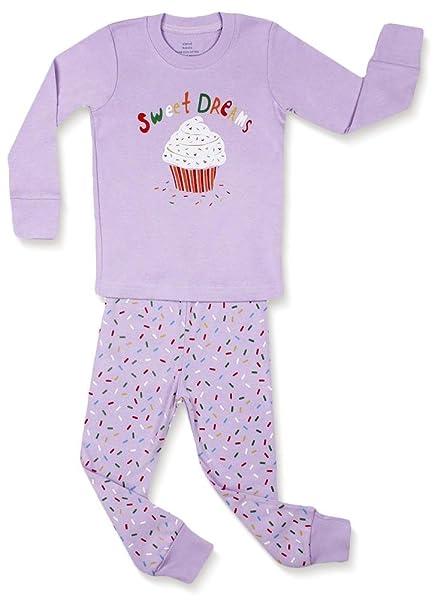 """Elowel Ninas """"Pastel de copa"""" 2 pieza pijama 100% algodon (6"""