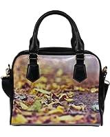 Angelinana Custom Women's Handbag Road in Autumn 5 Fashion Shoulder Bag
