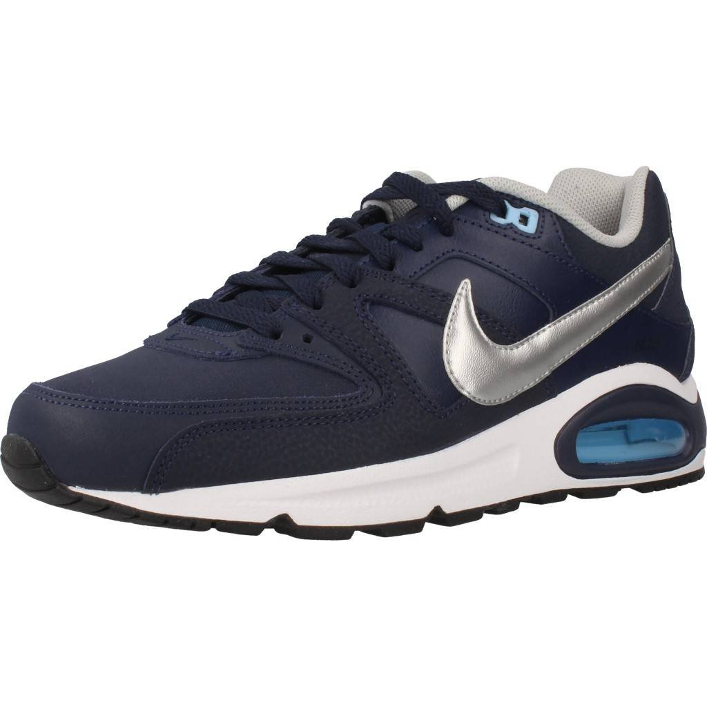 evaporación camioneta Comparación  Nike Air Max Command Leather Mens Running Trainers 749760 Sneakers Shoes  (UK 7 US 8 EU 41, Obsidian Metallic Silver 401): Amazon.in: Shoes & Handbags