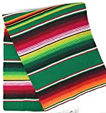 Mexitems Large Authentic Mexican Blanket Colorful