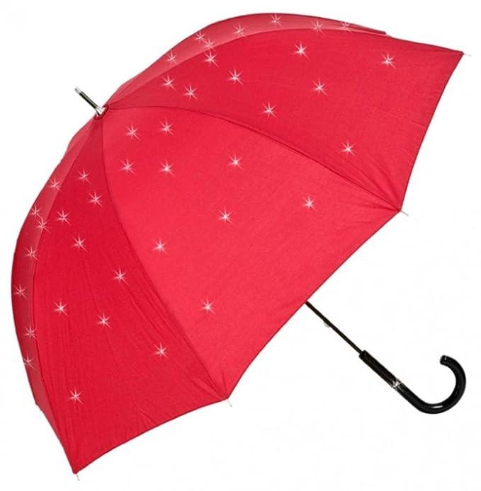 MySchirm paraguas de diseño de Swarovski Modelo Elementos Bling Bling Rojo - diseño de lujo -