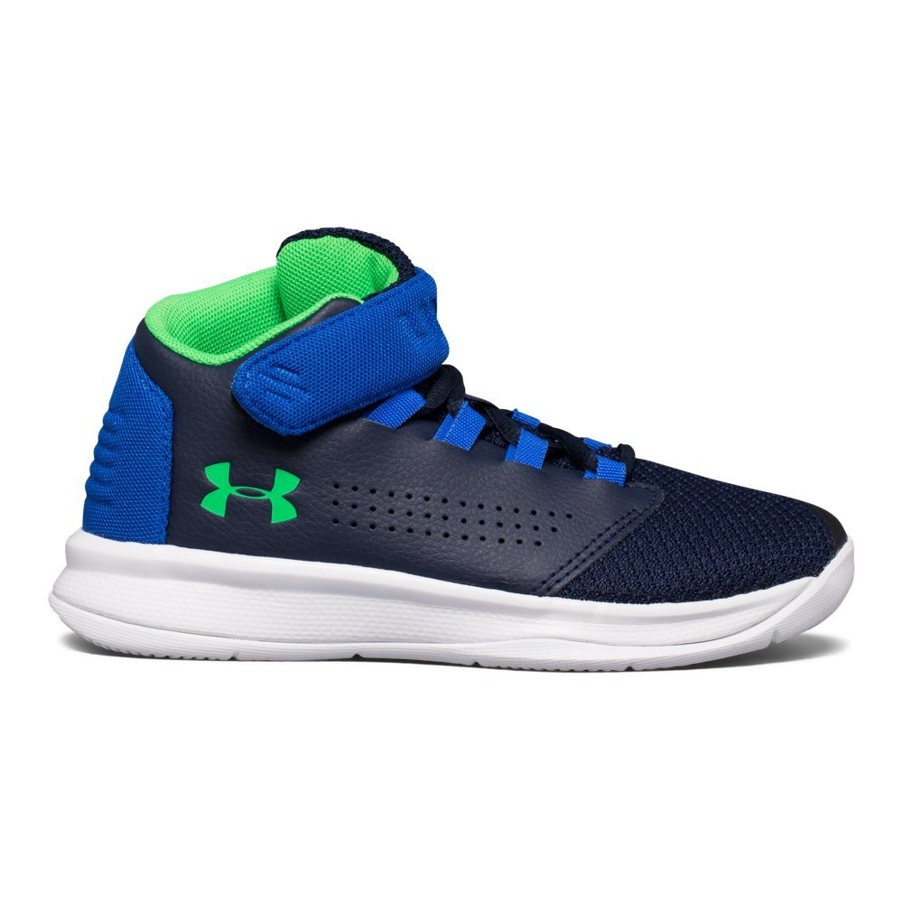 Under Armour Boys' Pre School Get B Zee Basketball Shoe, Midnight Navy (410)/Ultra Blue, 13K