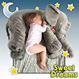 CHICVITA Stuffed Elephant Pillow Baby Toys Plush Pillows