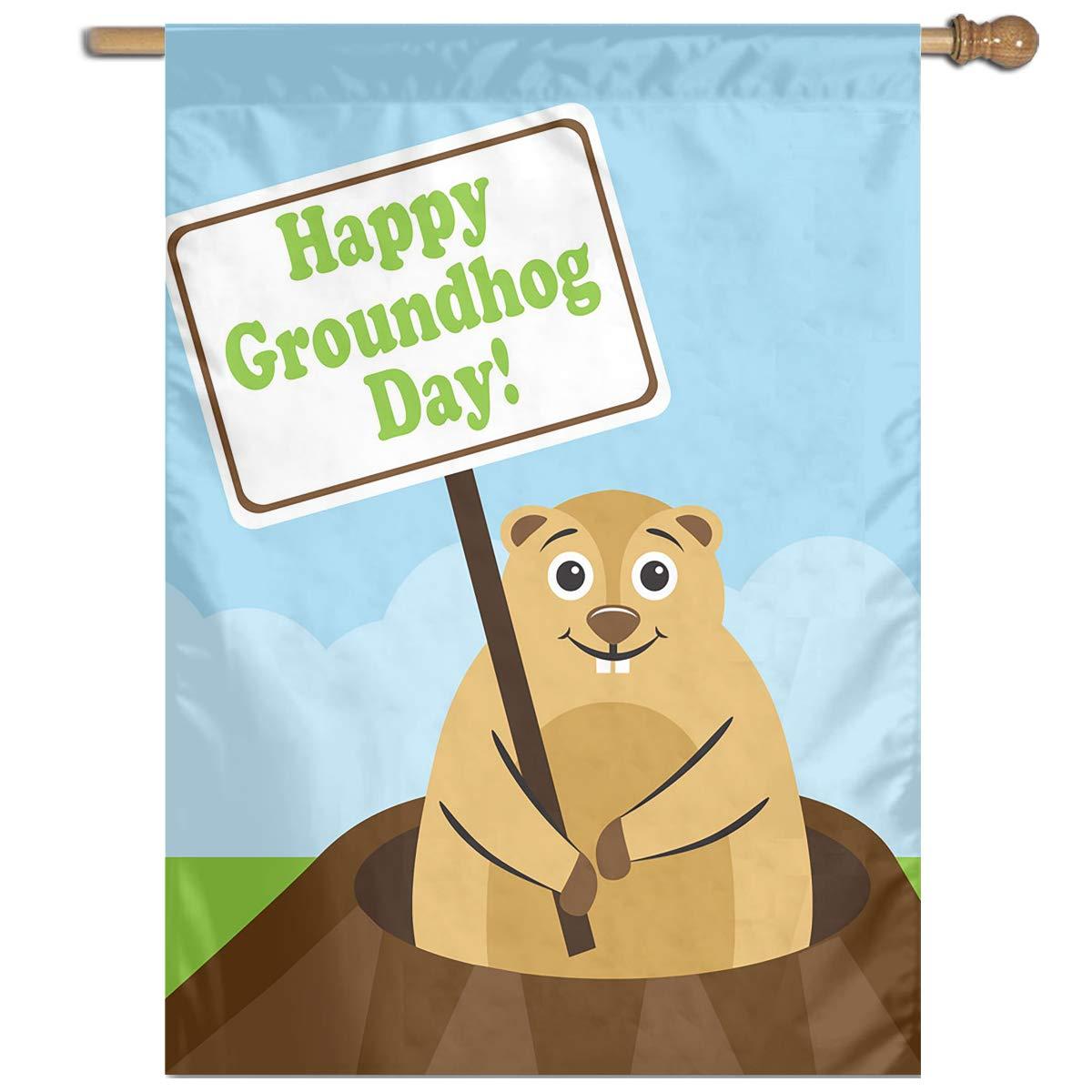 Amazon.com: CFECUP Garden Flag Happy Groundhog Day House Flag Yard Flag for  Decor: Home & Kitchen