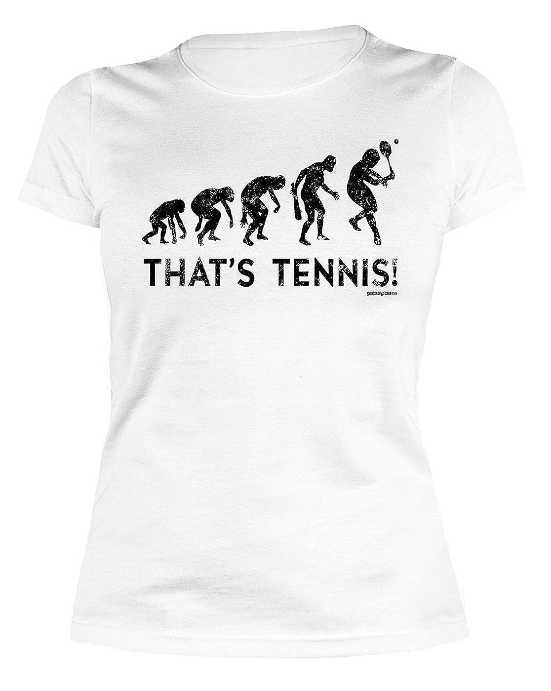 Damen T-Shirt Tennis - lustige Sport Sprüche : Evolution - That`s ...