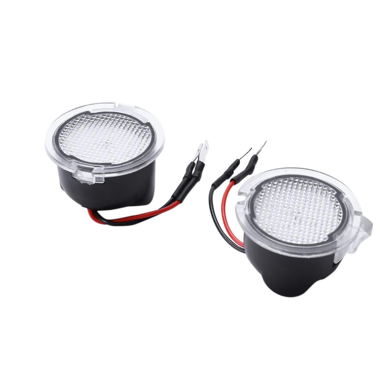 Cikuso 2X per LED Under Mirror Puddle Light F-150 Edge Explorer Mondeo Taurus S-Max Lampada per Specchietto Retrovisore Posteriore Car Styling